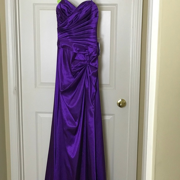 Cinderella Dresses & Skirts - Cinderella Design _Royal Purple Satin Gown